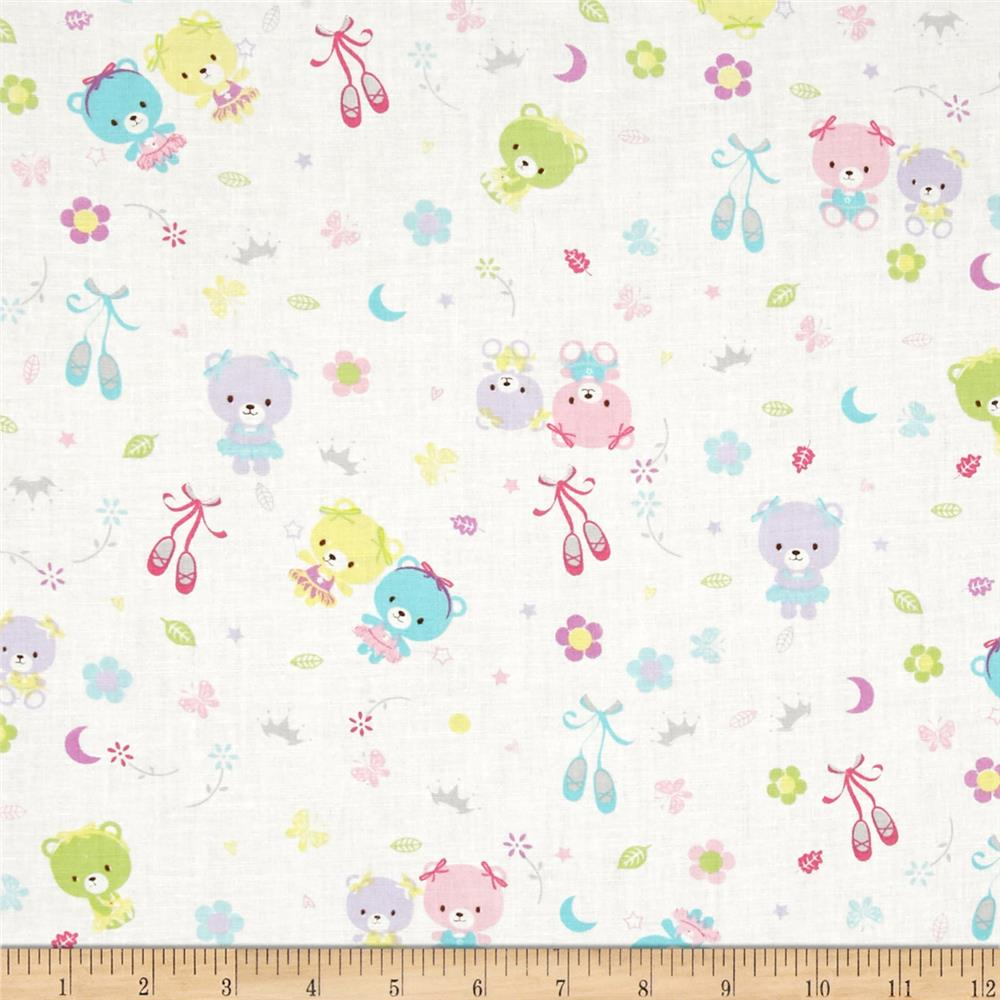 Ballet Bears White Multi