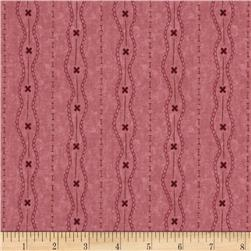 Moda Print Charming Lacey Stripe Berry