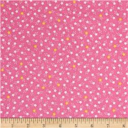 Kaufman Tiny Happy Lucky Stars Pink
