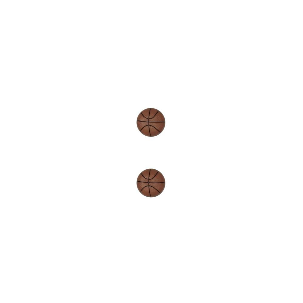 Dill Novelty Button 13/16'' Basketball Brown