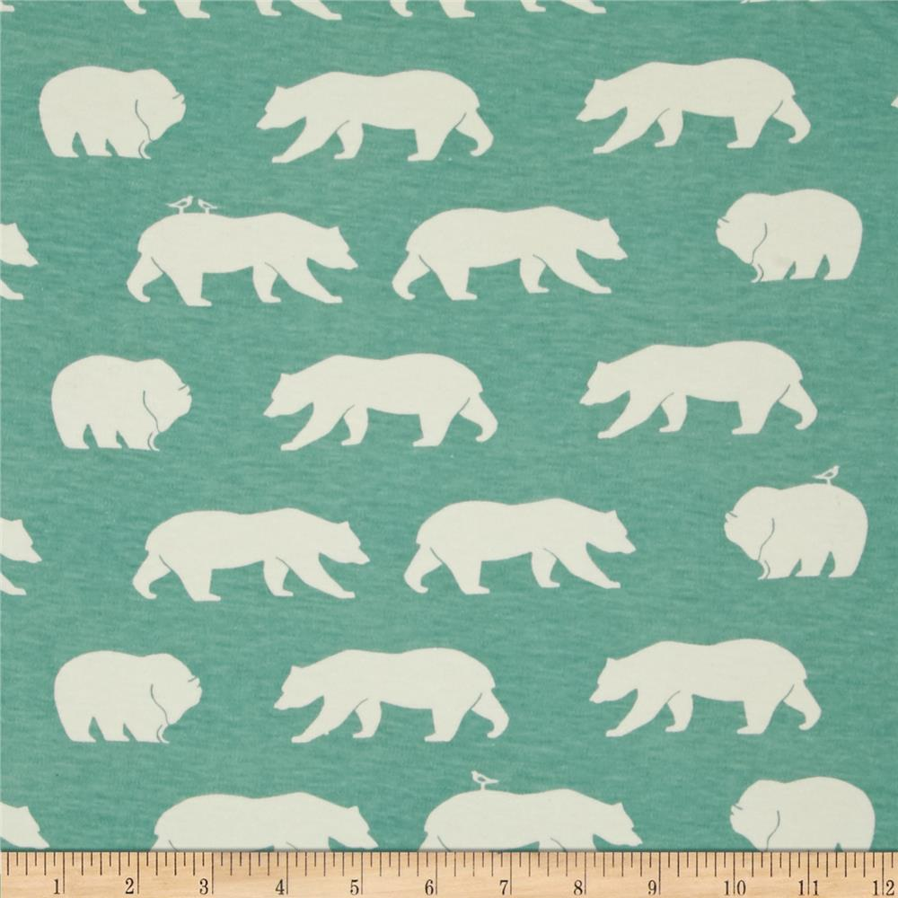 Birch Organic Bear Camp Interlock Knit Bear Hike Mineral