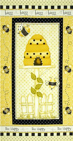 Bee Happy Panel Yellow/Black