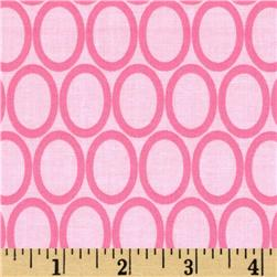 Remix Ovals Pink Fabric