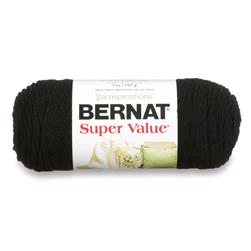Bernat Super Value Yarn (07421) Black