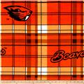 Collegiate Fleece Oregon State University Plaid Orange/White