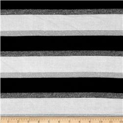 Stretch Sparkle Hatchi Knit Stripes Black/Cream