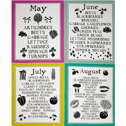 Lush Harvest May - August Calendar 24'' Panel Pink