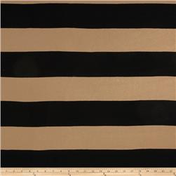 Striped Stretch Jersey Knit  Black/Tan