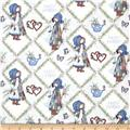 Holly Hobbie Holly All-Over On Diamond Blue