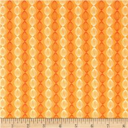 Riley Blake Dinosaur Stripe Orange