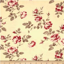 Tanya Whelan Petal Home Decor Sateen Scattered Roses Ivory