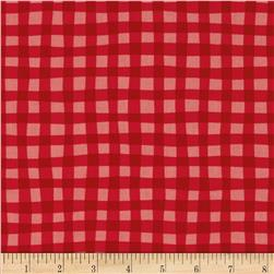 Cuteville Country Fair Gingham Red