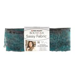 Red Heart Boutique Sassy Fabric Teal Panther