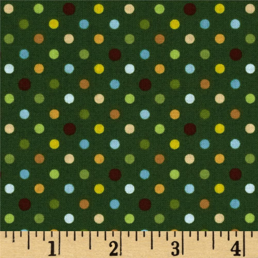 Coconut Grove Dots Dark Green