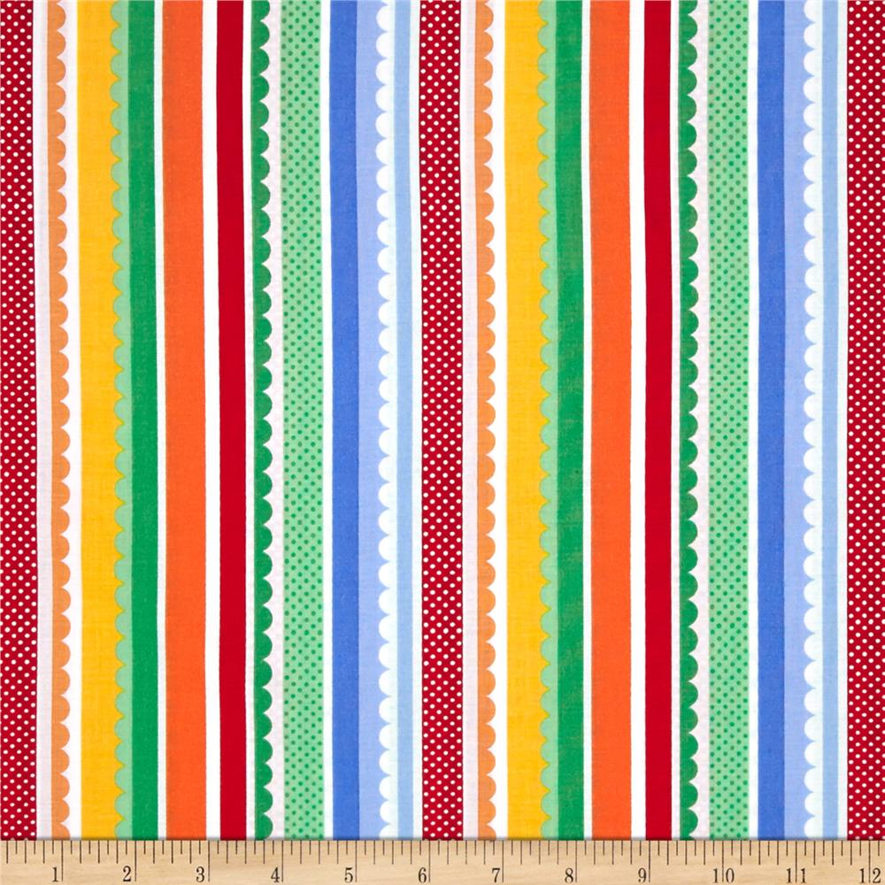 Michael Miller Funfair Carnival Stripe Primary