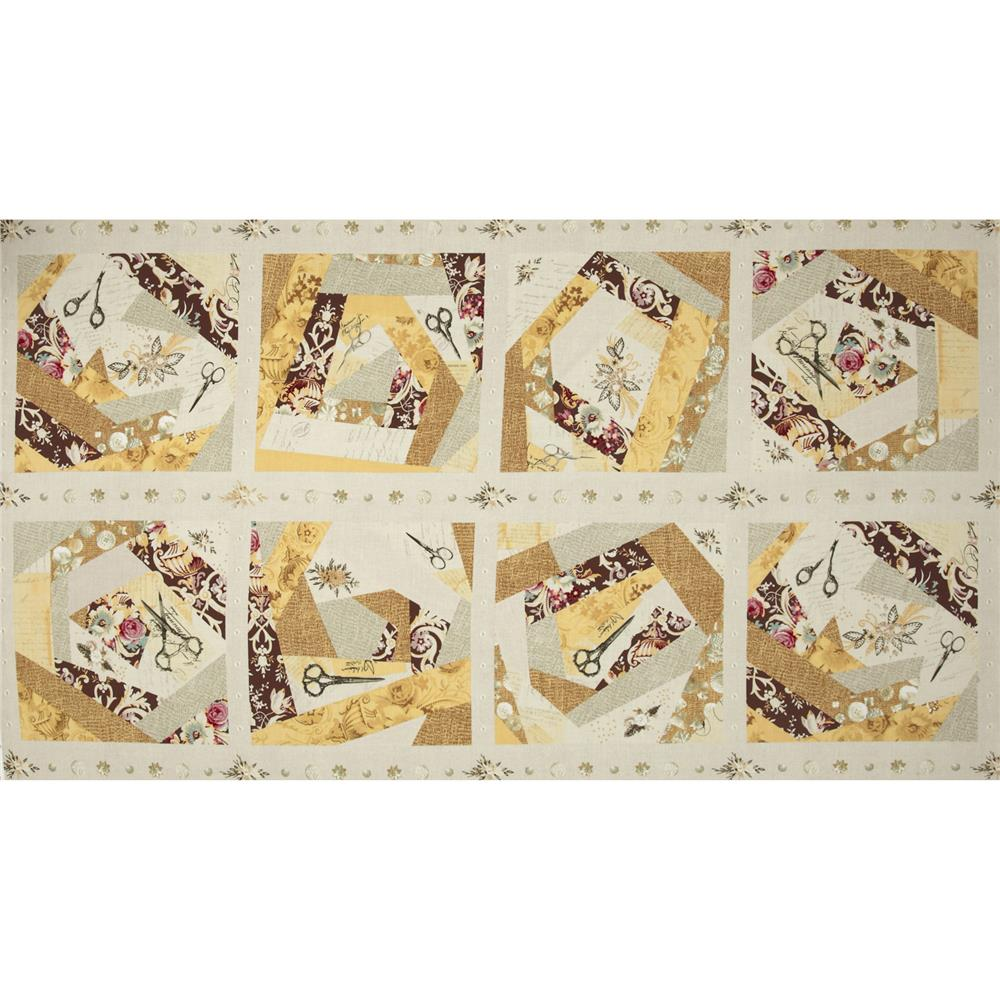 Haberdasher Patchwork Cheater Quilt Ivory