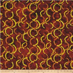 Timeless Treasures Tonga Batik Copper Currents Leather