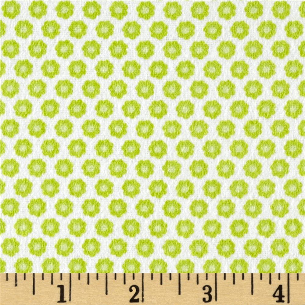 Michael Miller Nature Babies Flannel Lil Buds Green