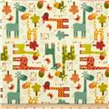 Riley Blake Giraffe Crossing Flannel Giraffe Main Cream