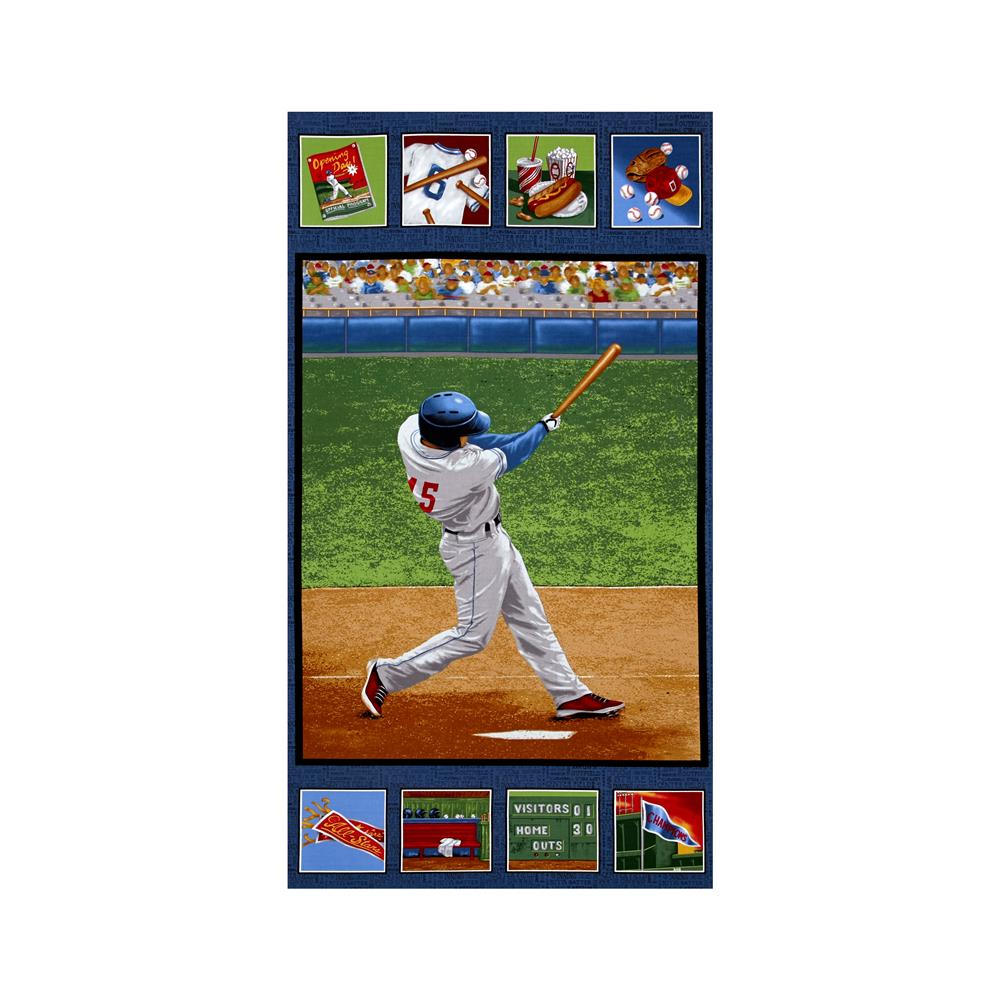 "Batter Up! Baseball 24"" Panel Green"