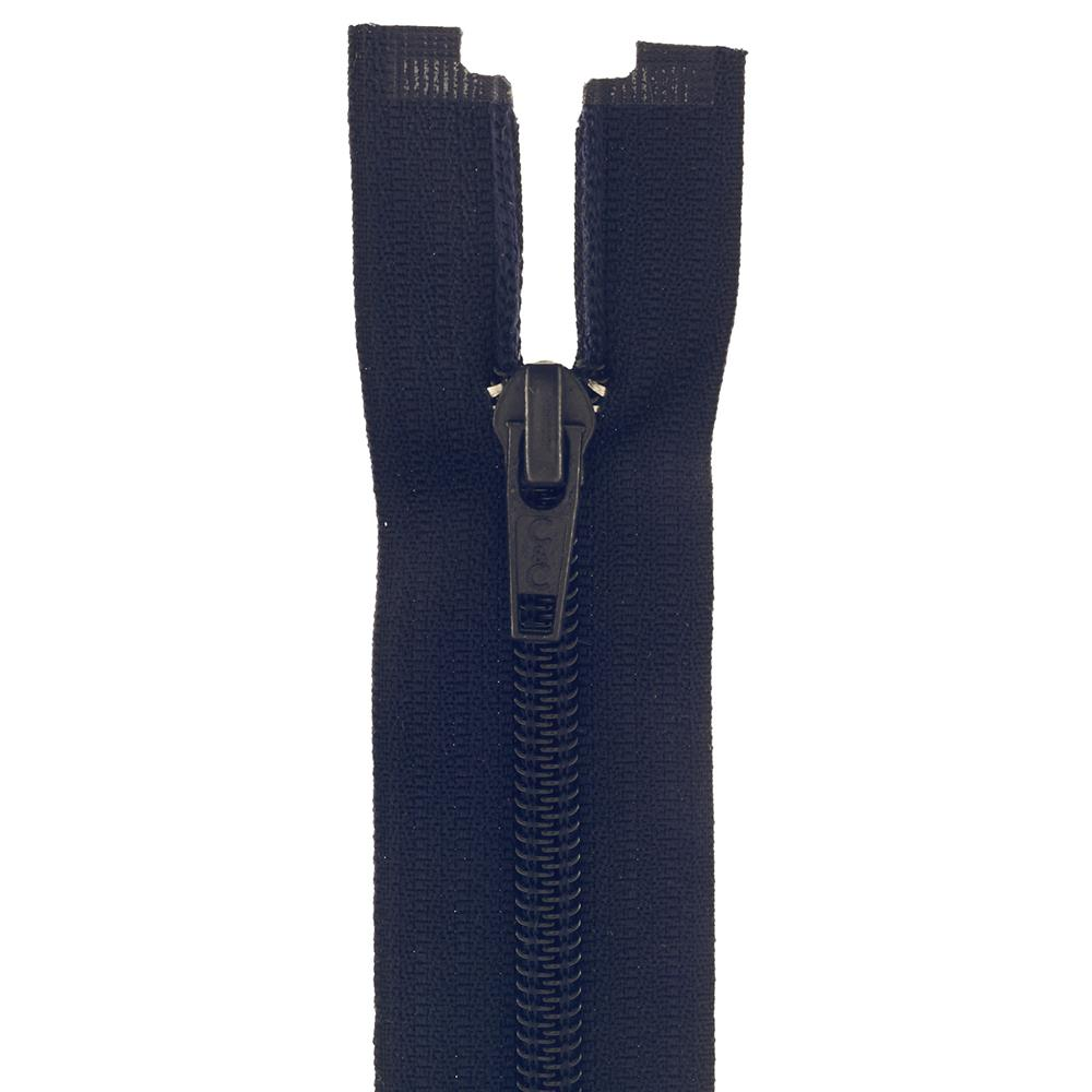 "Coats & Clark Coil Separating Zipper 22"" Navy"