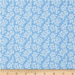 Mini Floral Blue/White Fabric