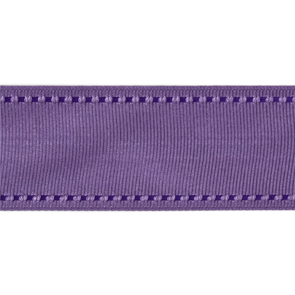 1 1/2'' Grosgrain Ribbon Saddle Stitch Lavender/Purple