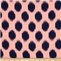 Peachskin Ikat DotPeach/Navy
