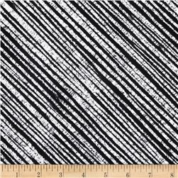 Born To Quilt Chalk Diagonal Stripe Black