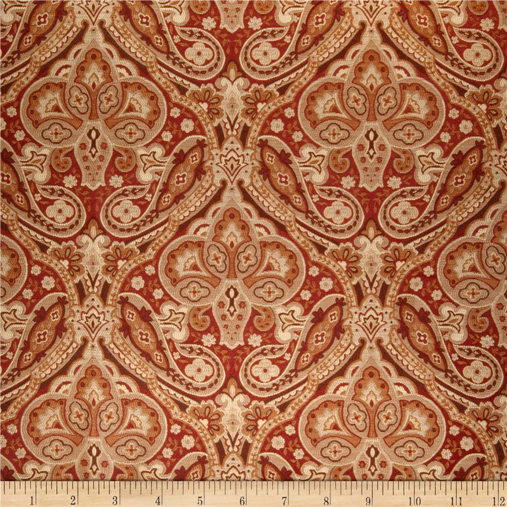 Jaclyn Smith 02102 Paisley Tapestry Jacquard Brick