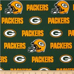 NFL Cotton Broadcloth Green Bay Packers Green/Yellow Fabric