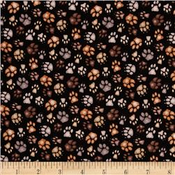 Big Cats Paw Print Black