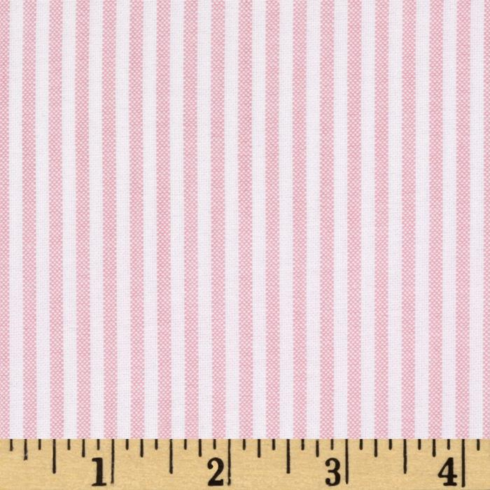 Kaufman Oxford Shirting Yarn Dyed Large Stripe Pink