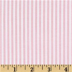 Oxford Shirting Yarn Dyed Large Stripe Pink