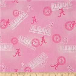 Collegiate Cotton Broadcloth Alabama Pink Fabric