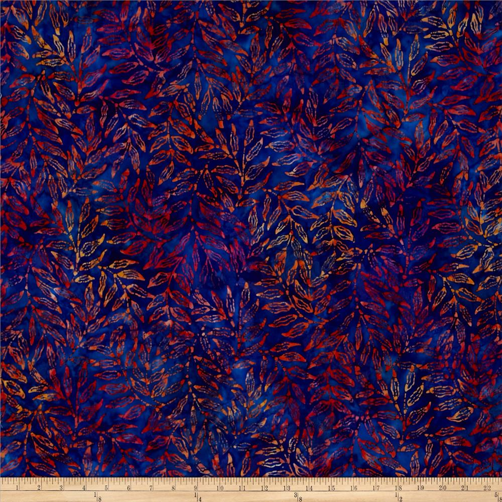 Kaufman Totally Tropical Batik Palm Branches Multi