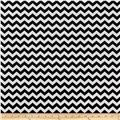 Minky Mini Chevron Silver/Black