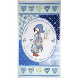 "Holly Hobbie 24"" Panel Blue"