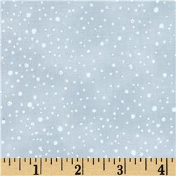 Snowy Peak Metallic Snow Dots Snow/Silver