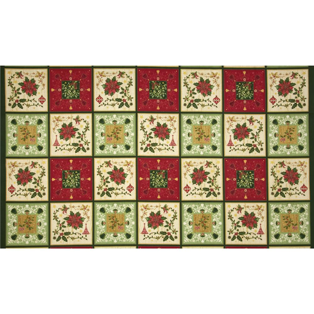 The Giving Quilt Christmas Blocks Metallic Multi
