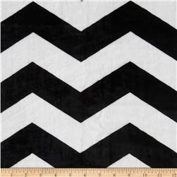 Minky Chevron Black/White Fabric