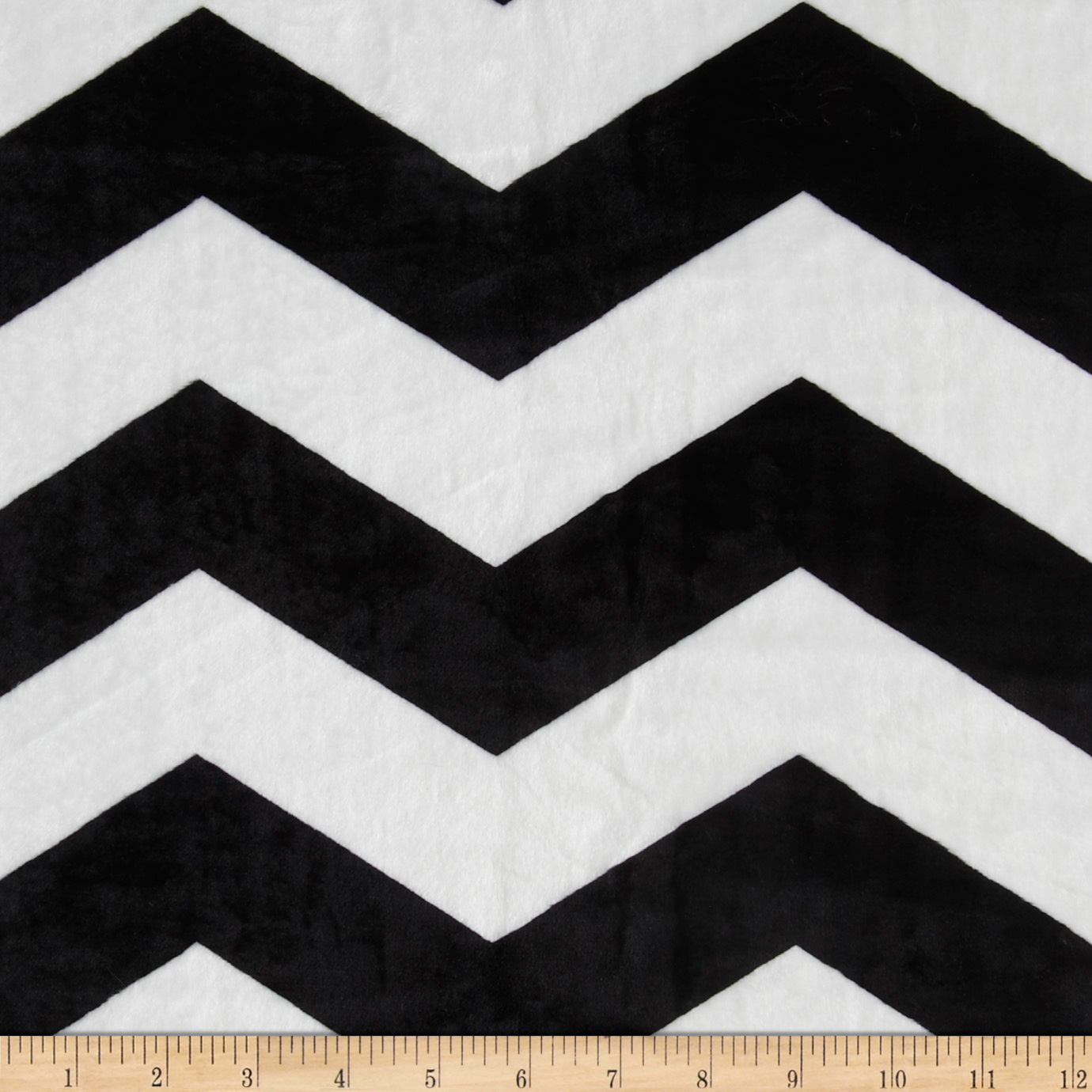 Minky Chevron Black/White