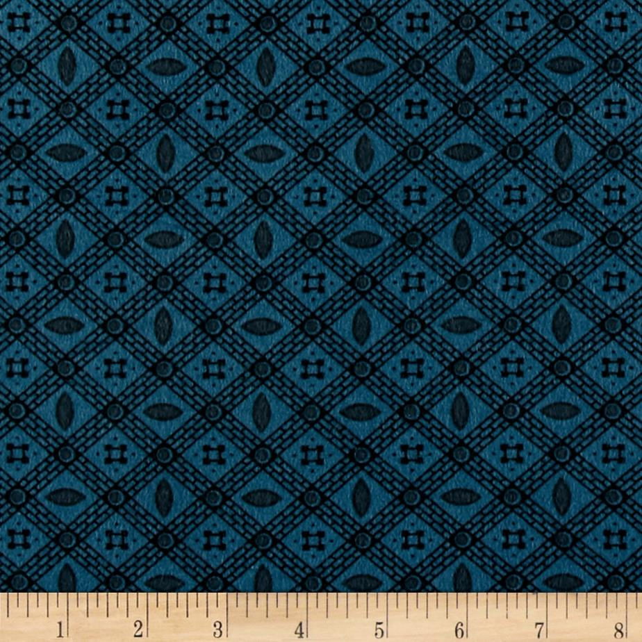 Cozies Flannel Check Blue Fabric By The Yard