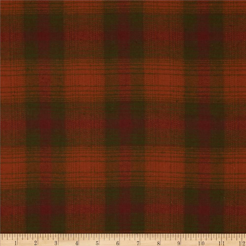 Primo Plaids Flannel Large Plaid Orange/Green/Red