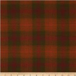 Primo Plaids Flannel Large Plaid Orange/Green/Red Fabric