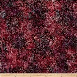 Kaufman Regal Batiks Geo Floral Cranberry