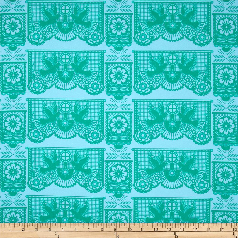 Anna Maria Horner Pretty Potent Flannel Banner Days Mint
