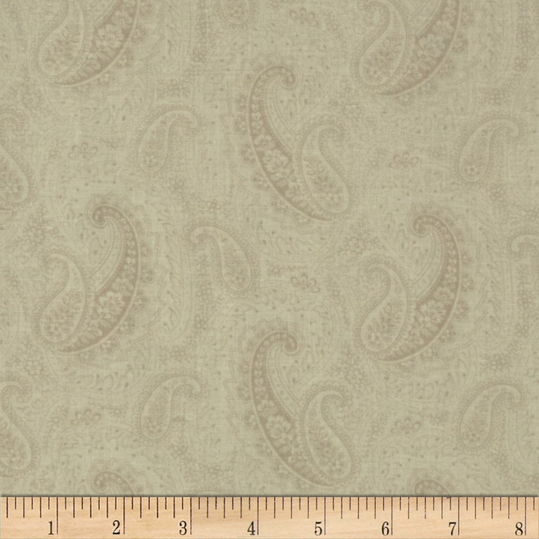 Letters from Paris Paisley Cream Fabric