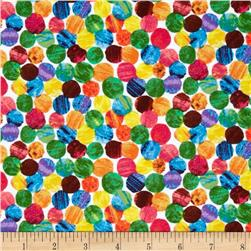 The Very Hungry Caterpillar Flannel Abstract Dots Multi