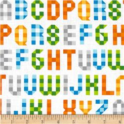 Picture Pie Alphabet Orange/Multi Fabric